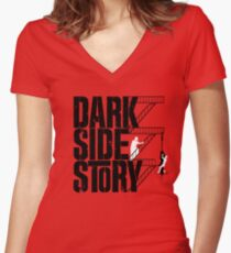 Dark Side Story Women's Fitted V-Neck T-Shirt