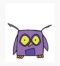 Casey The Purple Owl  Photographic Print
