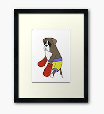 Heavy Weight Boxer Framed Print