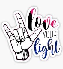 love your light Sticker