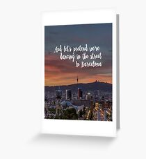 Ed Sheeran Barcelona  Greeting Card