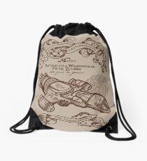 The Smuggler's Map Drawstring Bag
