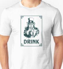 Irish Leprechaun Uncle Sam St Patricks Day Funny T-Shirt