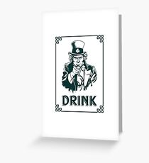 Irish Leprechaun Uncle Sam St Patricks Day Funny Greeting Card