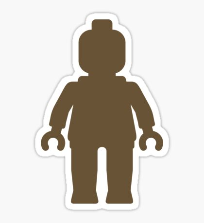 Minifig [Large Light Brown], Customize My Minifig Sticker