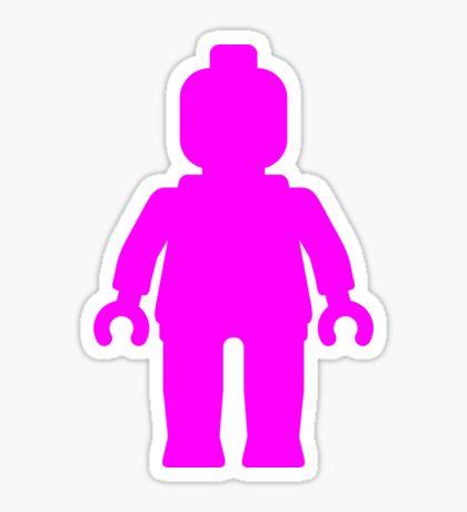 Minifig [Large Dark Pink], Customize My Minifig Sticker