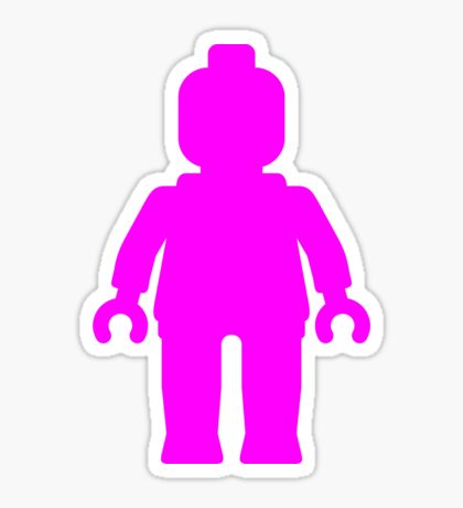 Minifig [Large Dark Pink], Customize My Minifig Sticker