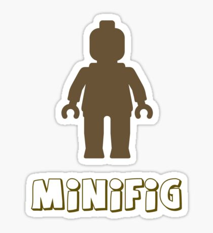 Minifig [Light Brown], Customize My Minifig Sticker