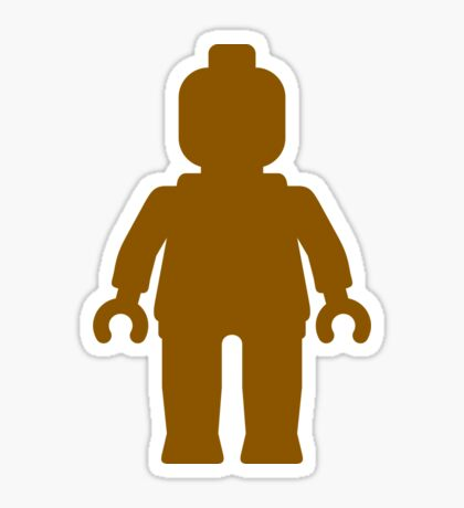 Minifig [Large Brown], Customize My Minifig Sticker