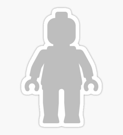 Minifig [Large Light Grey], Customize My Minifig Sticker