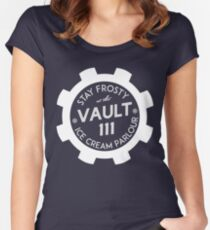 Vault 111 Ice Cream Parlour Women's Fitted Scoop T-Shirt