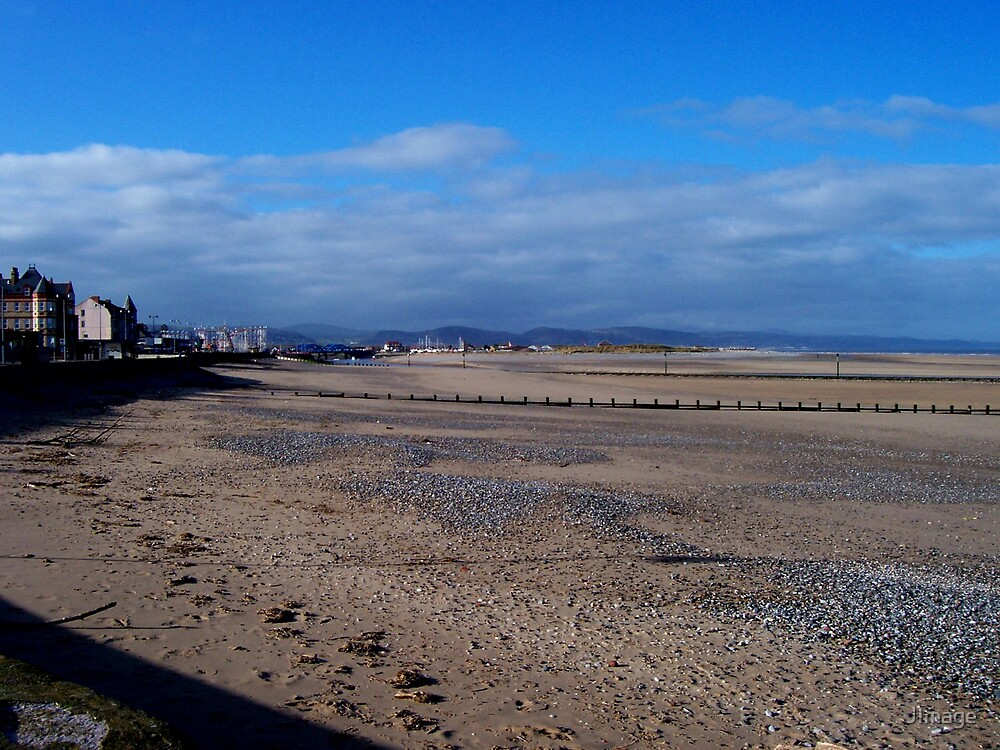 Beach at Rhyl by JImage