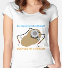 Portal - Because I'm A Potato Women's Fitted Scoop T-Shirt