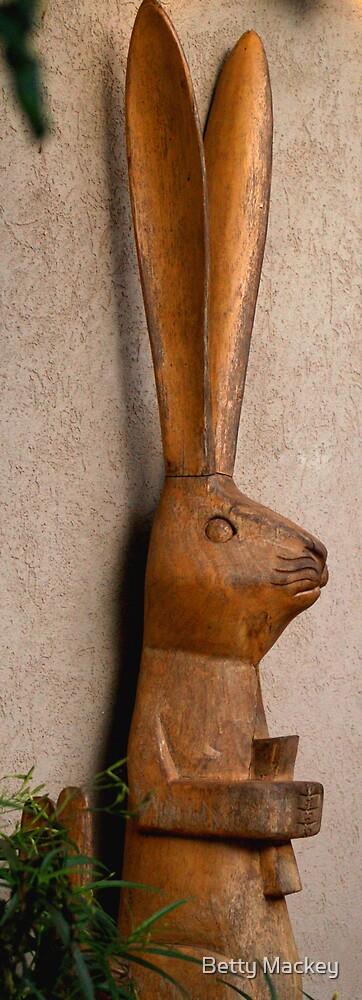 Wooden Hare by Betty Mackey
