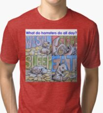 What do hamsters do all day? Tri-blend T-Shirt