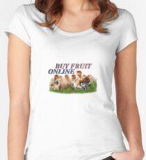 BUY FRUIT ONLINE Women's Fitted Scoop T-Shirt