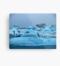 Icelandic Glaciers Metal Print
