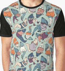 Peppy Springtime Legfish Pattern (Muted Complementaries) Graphic T-Shirt