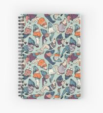 Peppy Springtime Legfish Pattern (Muted Complementaries) Spiral Notebook