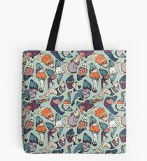 Peppy Springtime Legfish Pattern (Muted Complementaries) Tote Bag