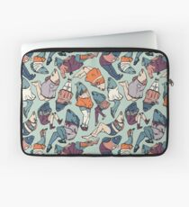 Peppy Springtime Legfish Pattern (Muted Complementaries) Laptop Sleeve