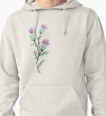 Watercolor Thistle  Pullover Hoodie