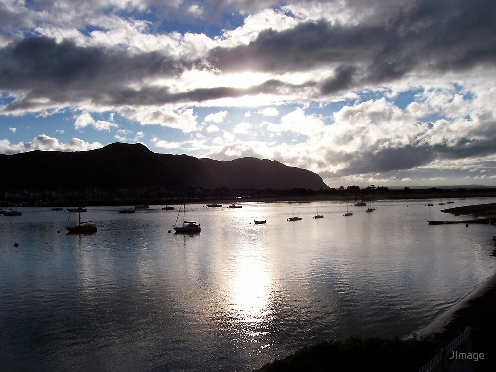 Boats at Deganwy by JImage
