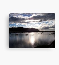 Boats at Deganwy Canvas Print