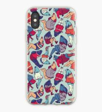 Peppy Springtime Legfish Pattern (Bright Complementaries) iPhone Case