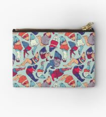 Peppy Springtime Legfish Pattern (Bright Complementaries) Studio Pouch