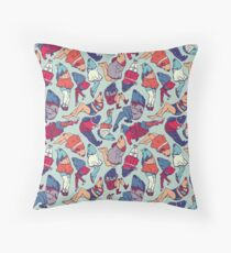Peppy Springtime Legfish Pattern (Bright Complementaries) Throw Pillow
