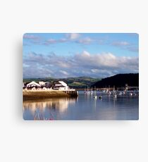 Deganwy Reflections Canvas Print