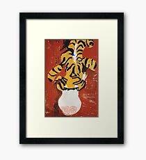 leopard toy painting Framed Print