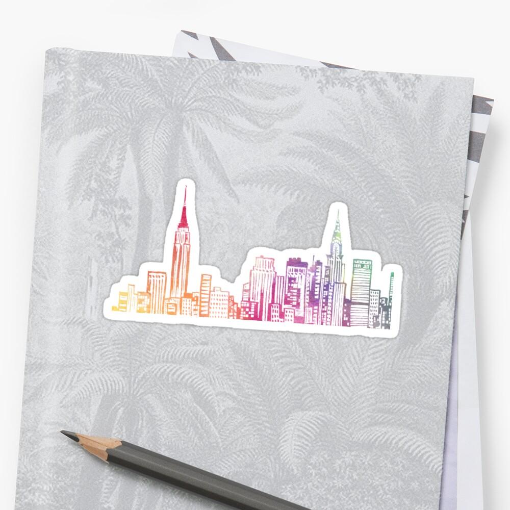 NYC Skyline Pegatina