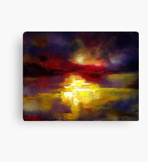 Finding a way home, abstract landscape Canvas Print