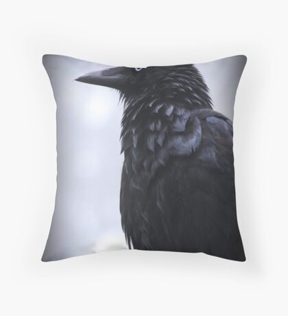 Sentinel in the mist Throw Pillow