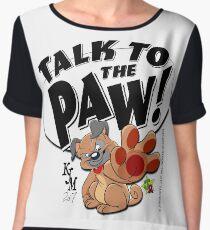 Paw Talking Pug Women's Chiffon Top
