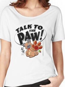Paw Talking Pug Women's Relaxed Fit T-Shirt