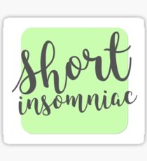 Short Insomniac Cube Sticker