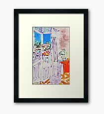 view from the window drawing Framed Print