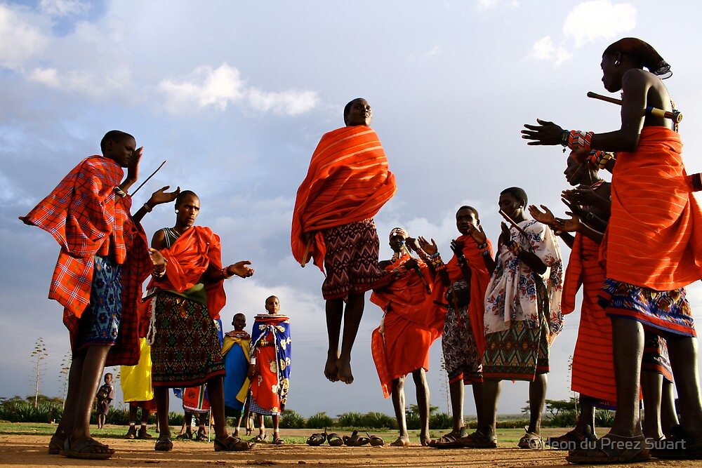masai warrriors. by Gideon du Preez Swart