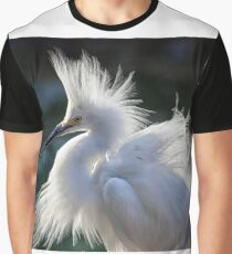 Snowy Egret Graphic T-Shirt