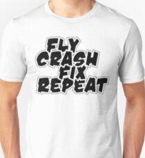 Fly, Crash, Fix, Repeat T-Shirt