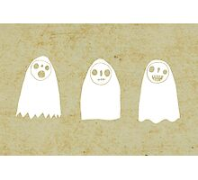 Three Spooky Ghosts Photographic Print