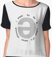 I want to be a schwa it's never stressed   Linguistics Chiffon Top