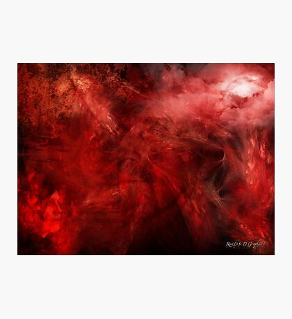 Blood of Me (an image, a poem, a song) Photographic Print