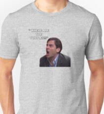 Michael Scott - WHERE ARE THE TURTLES! T-Shirt