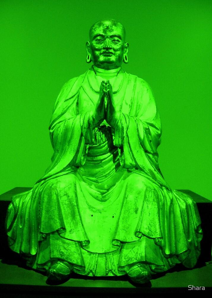 Green Buddha by Shara