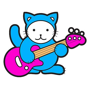Guitar Kitty by sparklellama