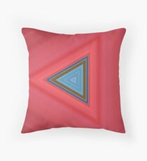 Blue and red triangles Throw Pillow